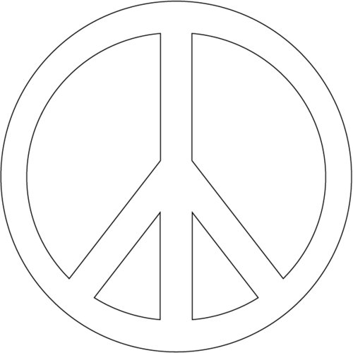 peace sign coloring pages to print - printable peace signs clipart best