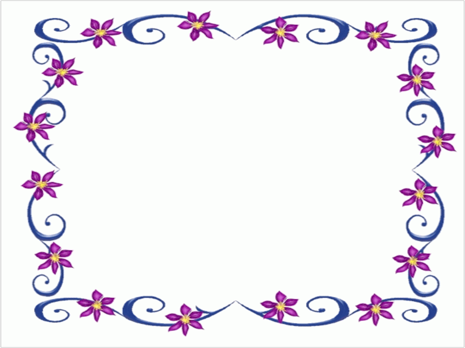 Purple Flower Border Design