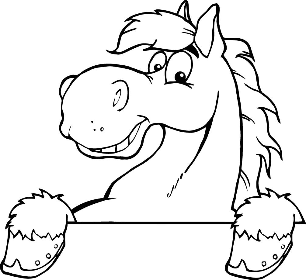 horse head coloring pages printable - photo#18
