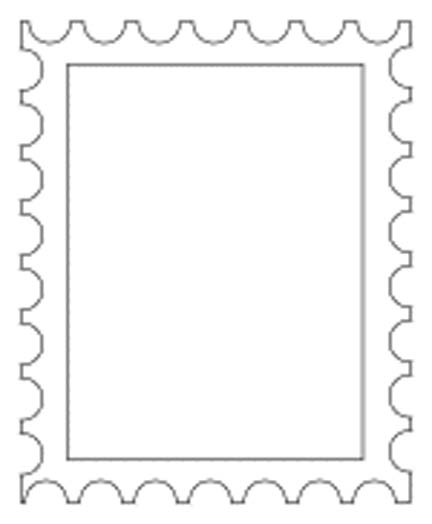Postage Stamp Template Free Clipart Best
