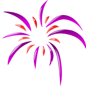 Firework 2 Colors clip art - vector clip art online, royalty free ...