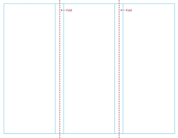 Free blank tri fold brochure templates clipart best for Tri fold brochure template word