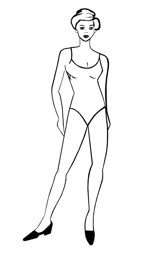 Human Body Template Fashion Design Template Designed For Body