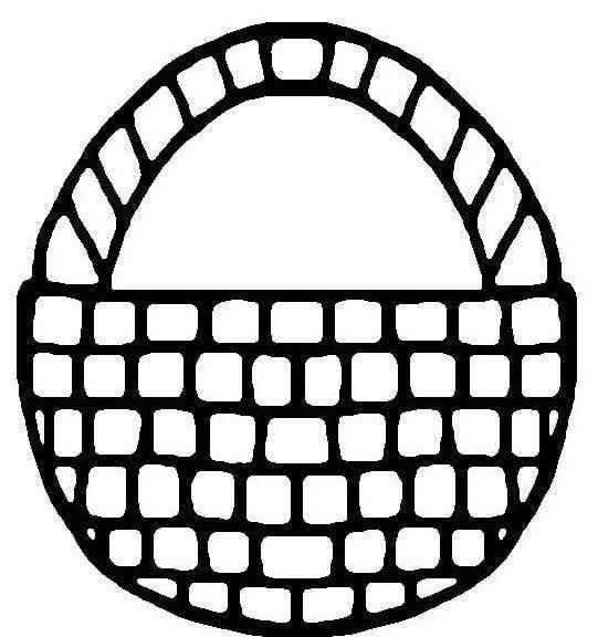 Easter basket template printable clipart best for Easter basket printable coloring pages