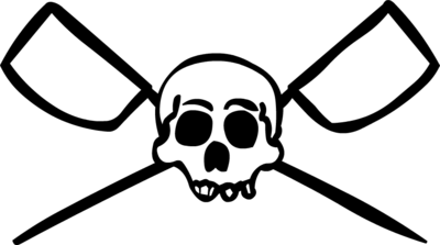 Crossed Oars Logo Skull And Crossed Oars