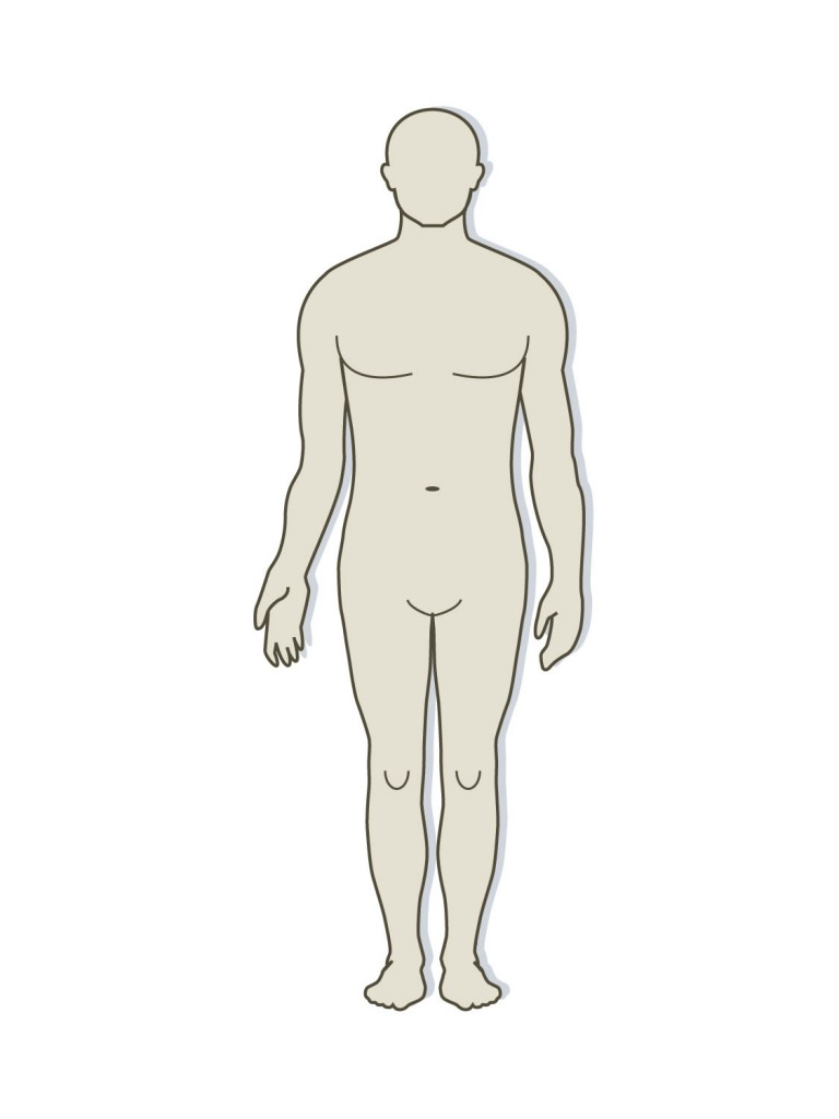 graphic relating to Human Body Outline Printable named human-overall body-define-printable - ClipArt Least difficult - ClipArt Ideal