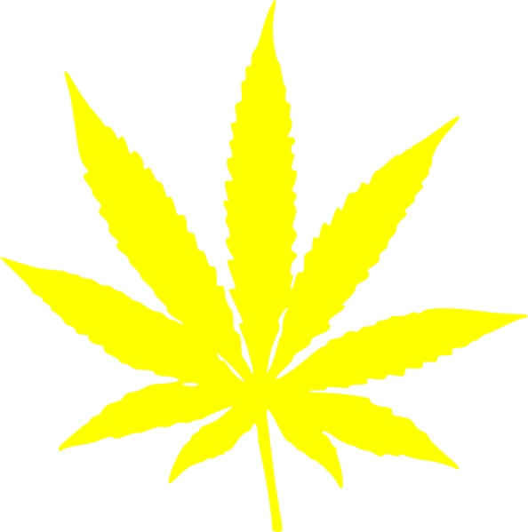 Pot Leaf Outline Weed leaf threads cannabis