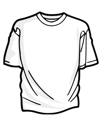Clip Art Tee Shirt on best hiking shoes
