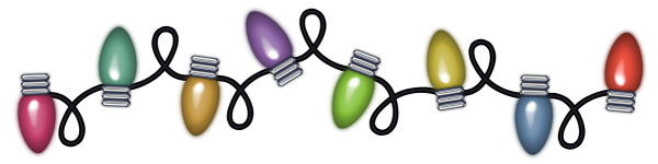 Transparent Christmas Lights PNG Clipart