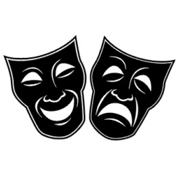 Drama Mask Template - ClipArt Best