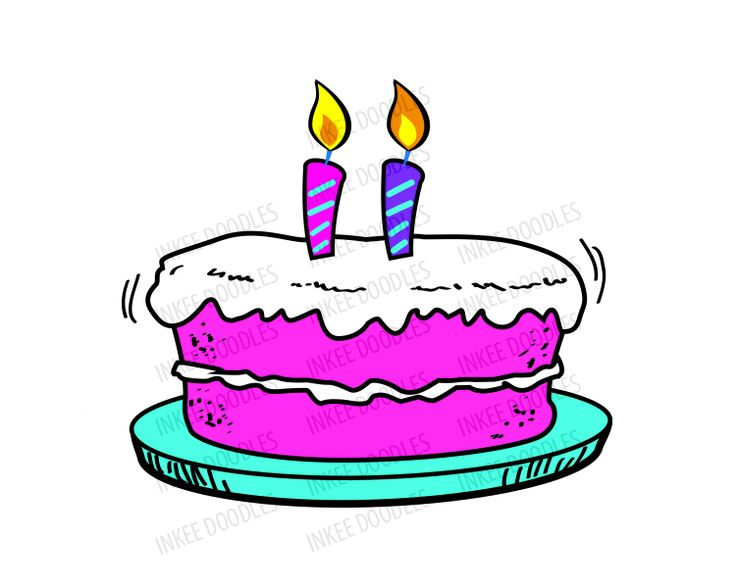 Clip Art Of Birthday Cake With Candles : Birthday Clip Art - Candles, Balloon, Party Hat, Happy ...