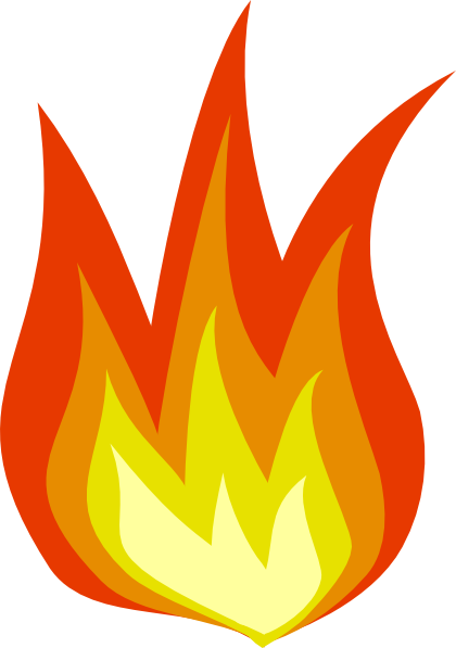 Fire Icon clip art Free Vector