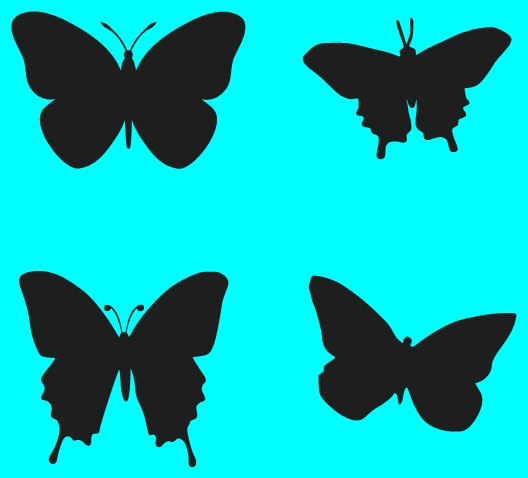 Butterfly Trail Stencil - ClipArt Best