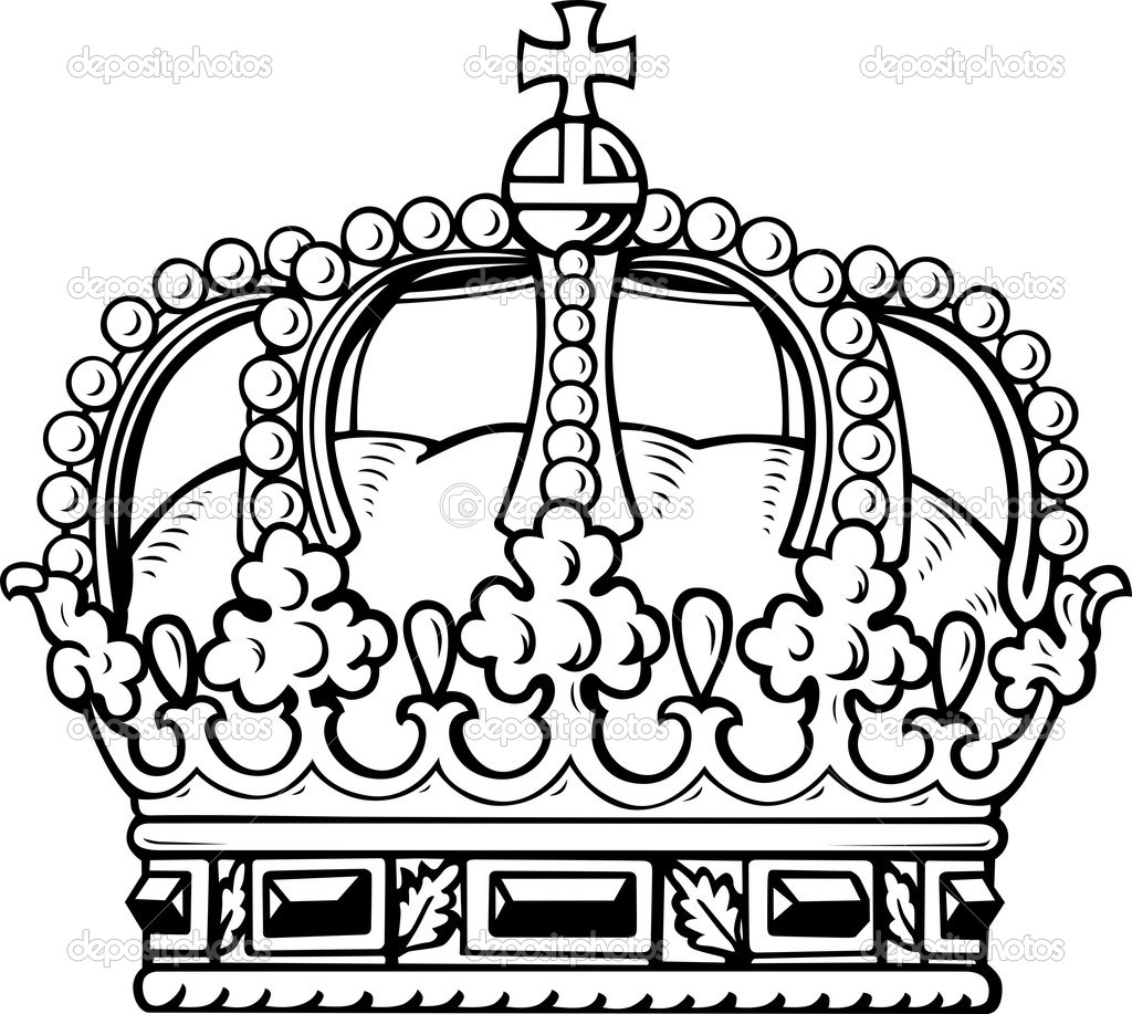 Crown Tattoo Line Drawing : Kings crown drawing clipart best