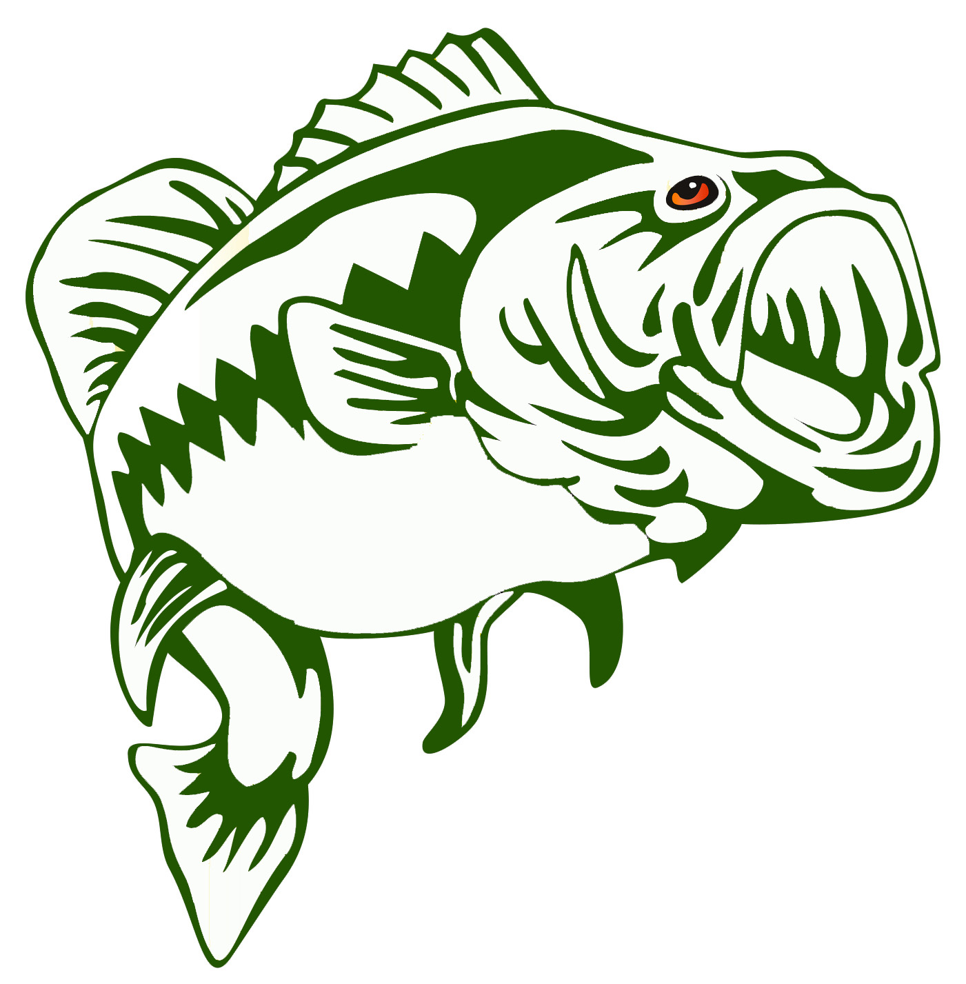 large mouth bass clip art