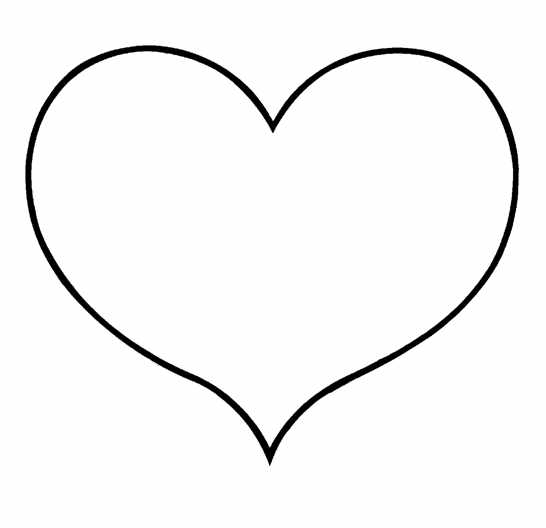 heart shape coloring pages | Small Heart Shapes - ClipArt Best