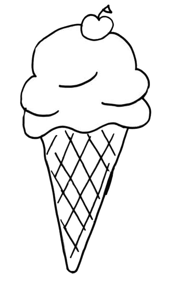 free snow cone coloring pages - photo#6