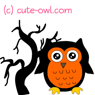 Free cute halloween owl clipart