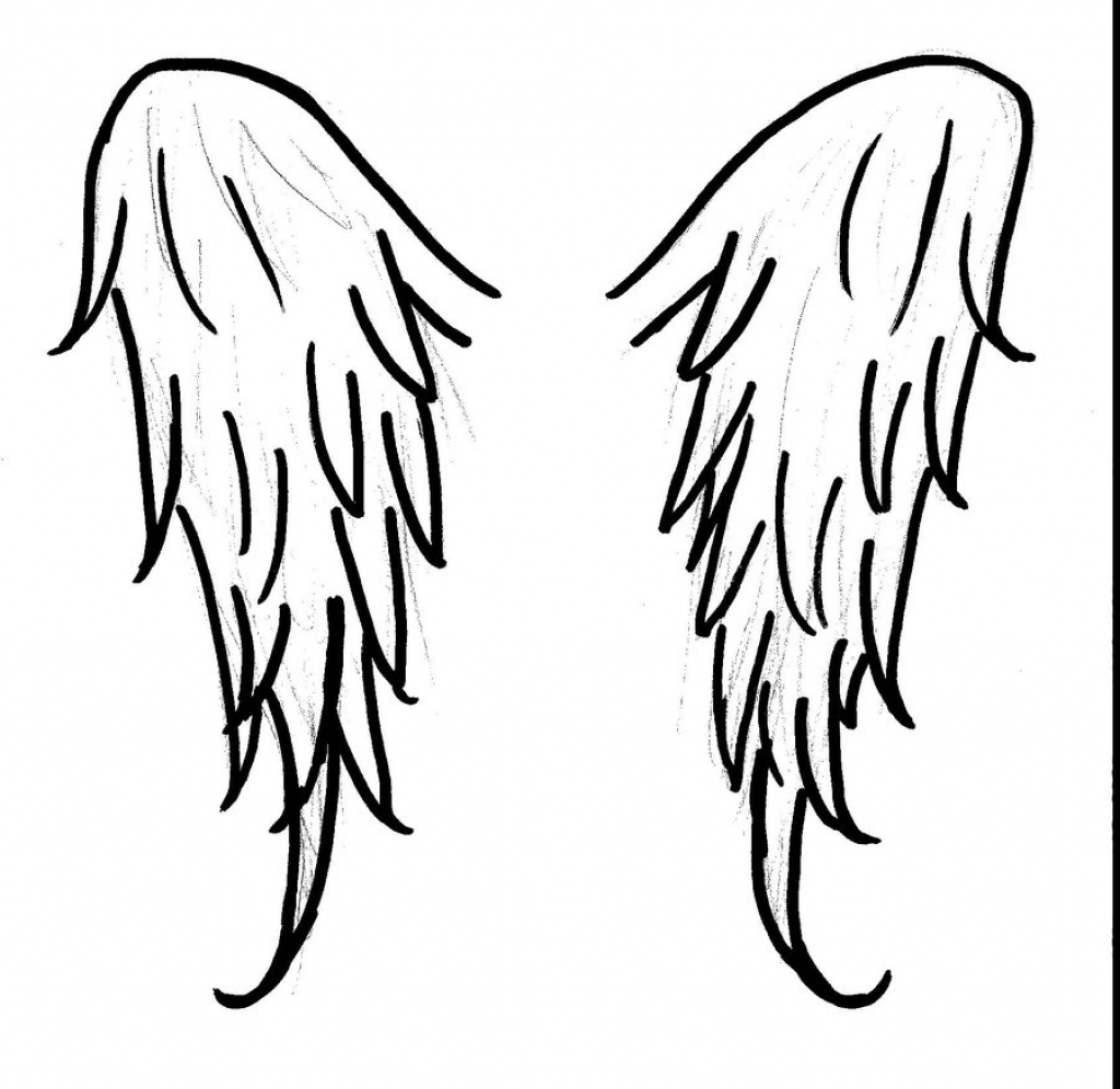 How To Draw A Easy Angel Wings Step By Step