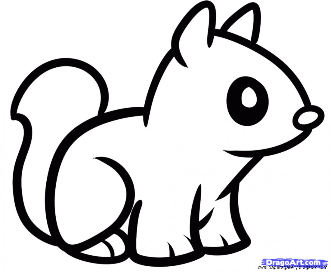 Line Drawing Of Animals Easy Cute Baby Animals To Draw 1000 Ideas