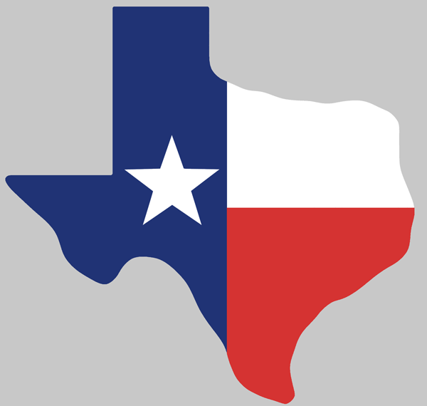 Us and texas flag clipart