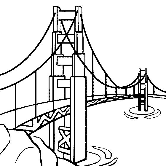 Golden Gate Bridge Drawing Clip Art Golden Gate Bridge Dra...