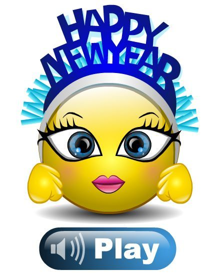 happy new year smiley face clip art - photo #28