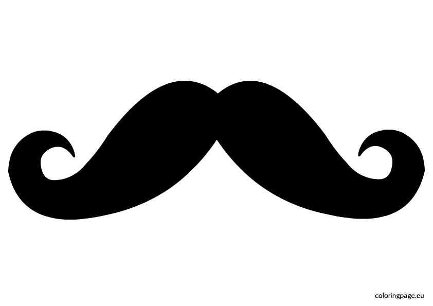Mustache Coloring Pages On Design Ideas