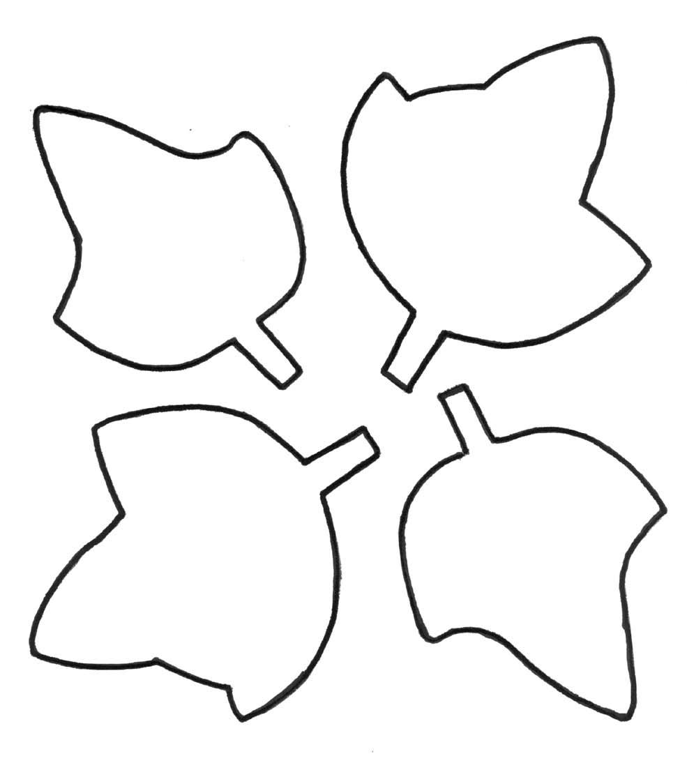 Simple Leaf Outline - ClipArt Best