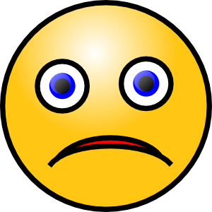Sad Smiley clip art - vector clip art online, royalty free ...