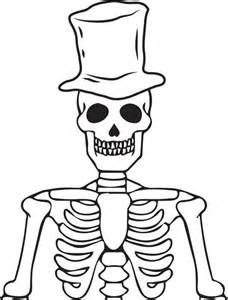 human skeleton template clipart best with human skeleton coloring pages - Halloween Skeleton Coloring Pages