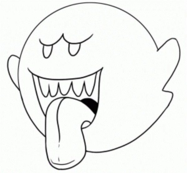 Mario Bros Coloring Pages Ghoust