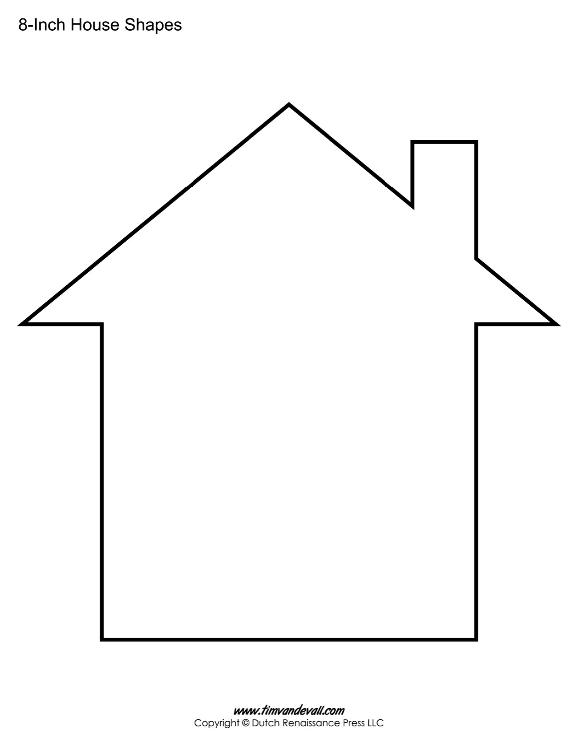 House Outline Teplate