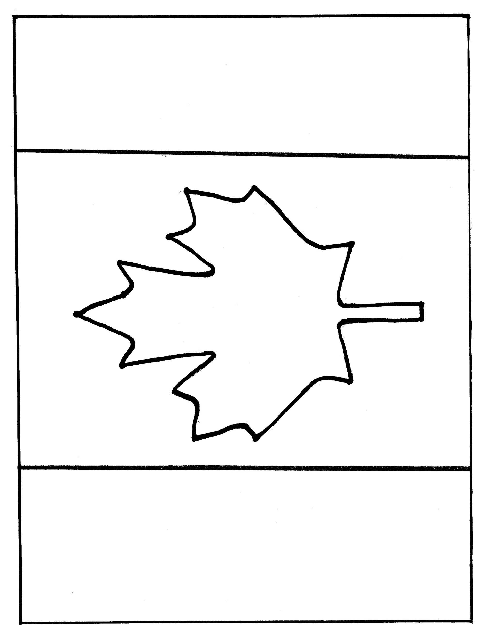 printable canadian flag coloring pages - photo#30