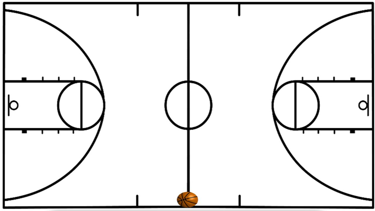 Basketball coach diagram clipart best clipart best for How big is a basketball court