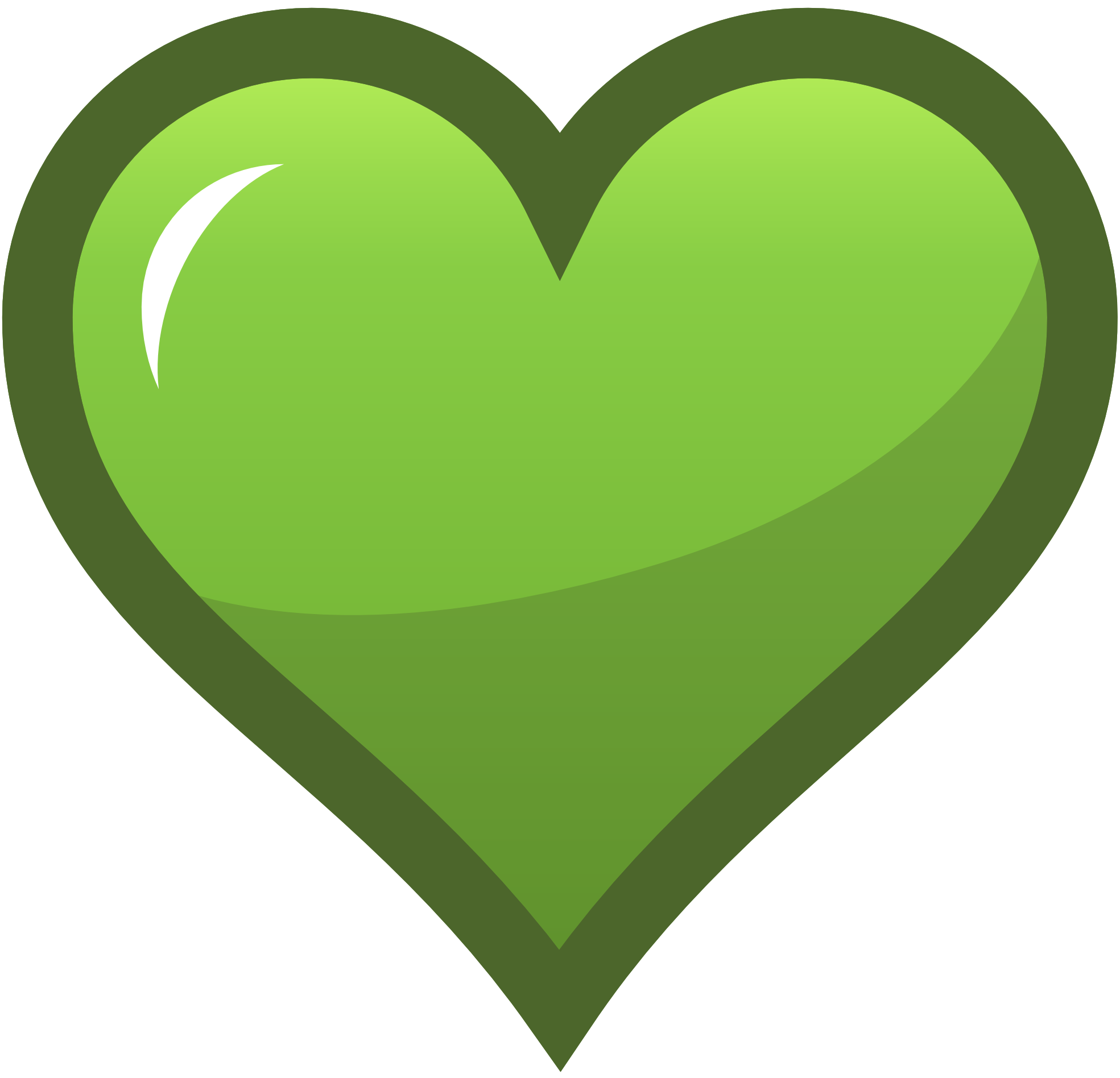 green hearts background - photo #48