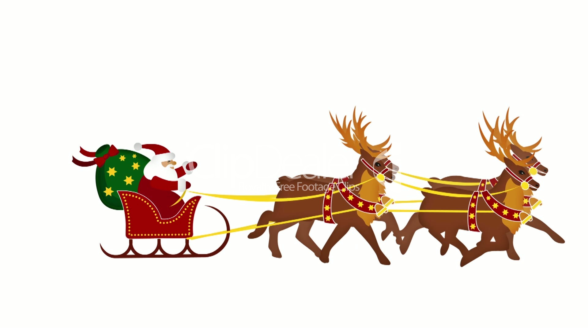 Images Of Santa And Reindeer - ClipArt Best