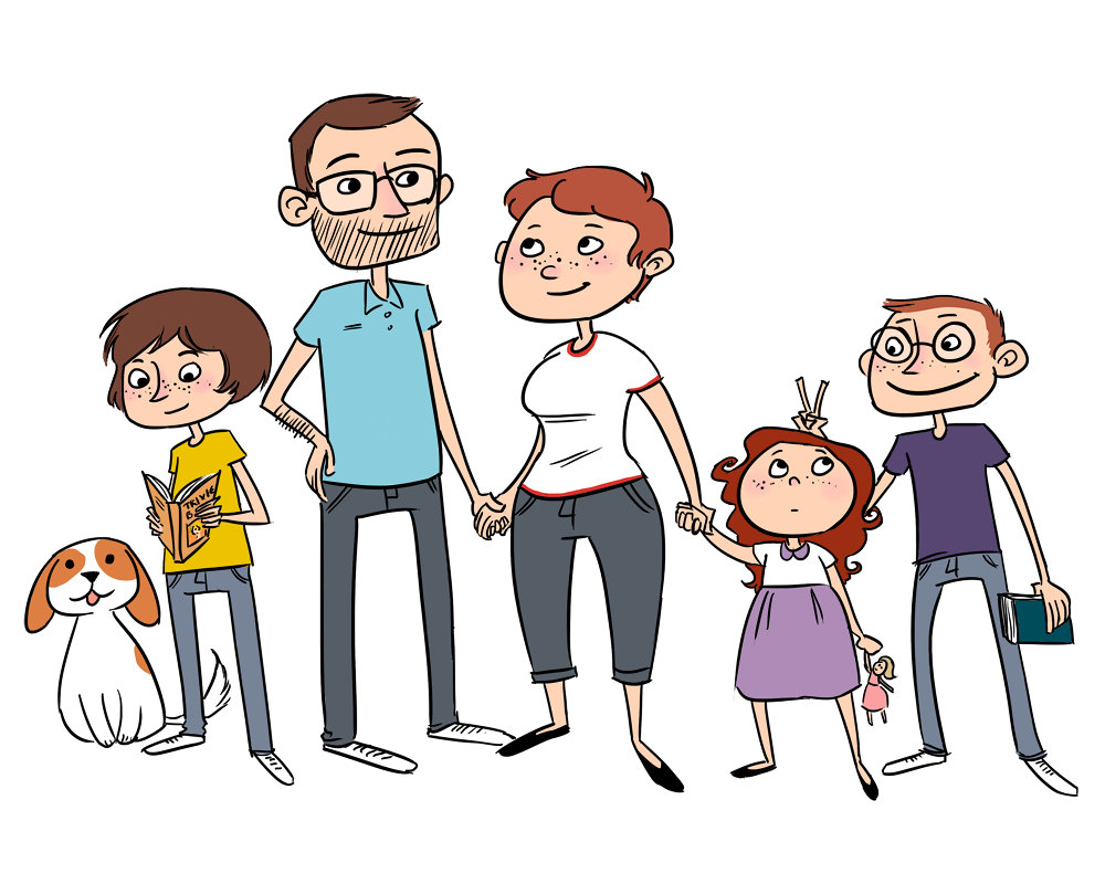 family cartoon pictures clipart best