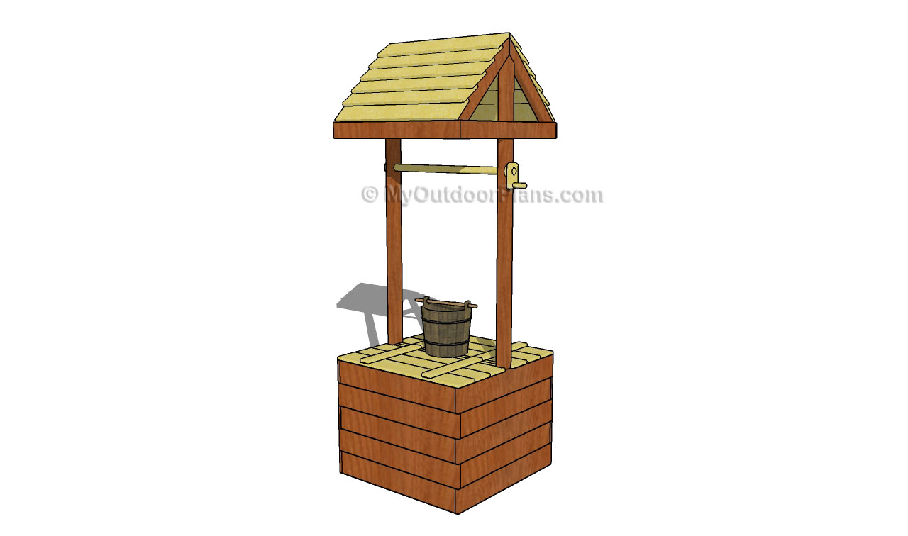 Wishing well images clipart best for Garden wishing well designs