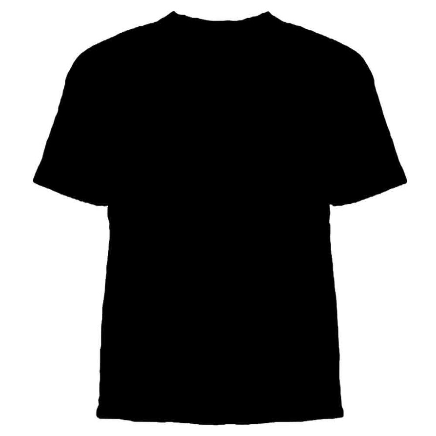 black t shirts template - photo #5