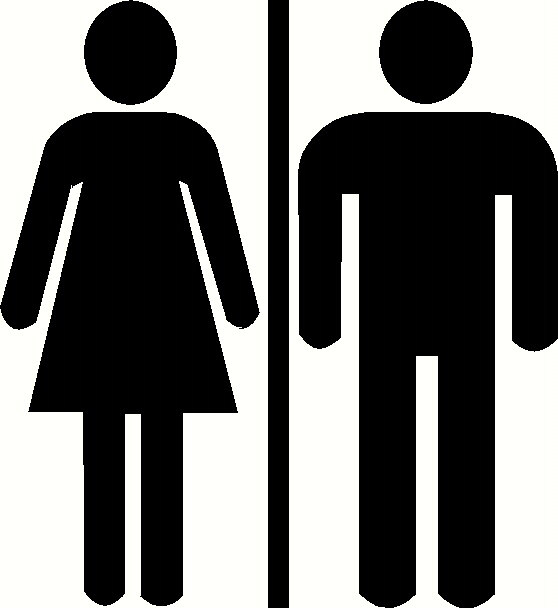 Mens And Womens Bathroom Signs Clipart Best