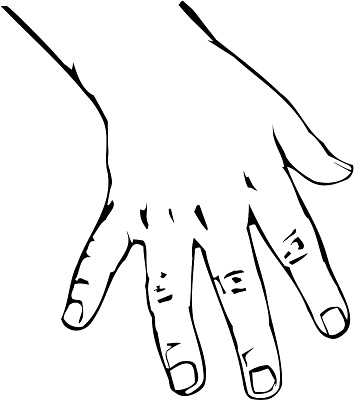 Drawing Open Hand - ClipArt Best