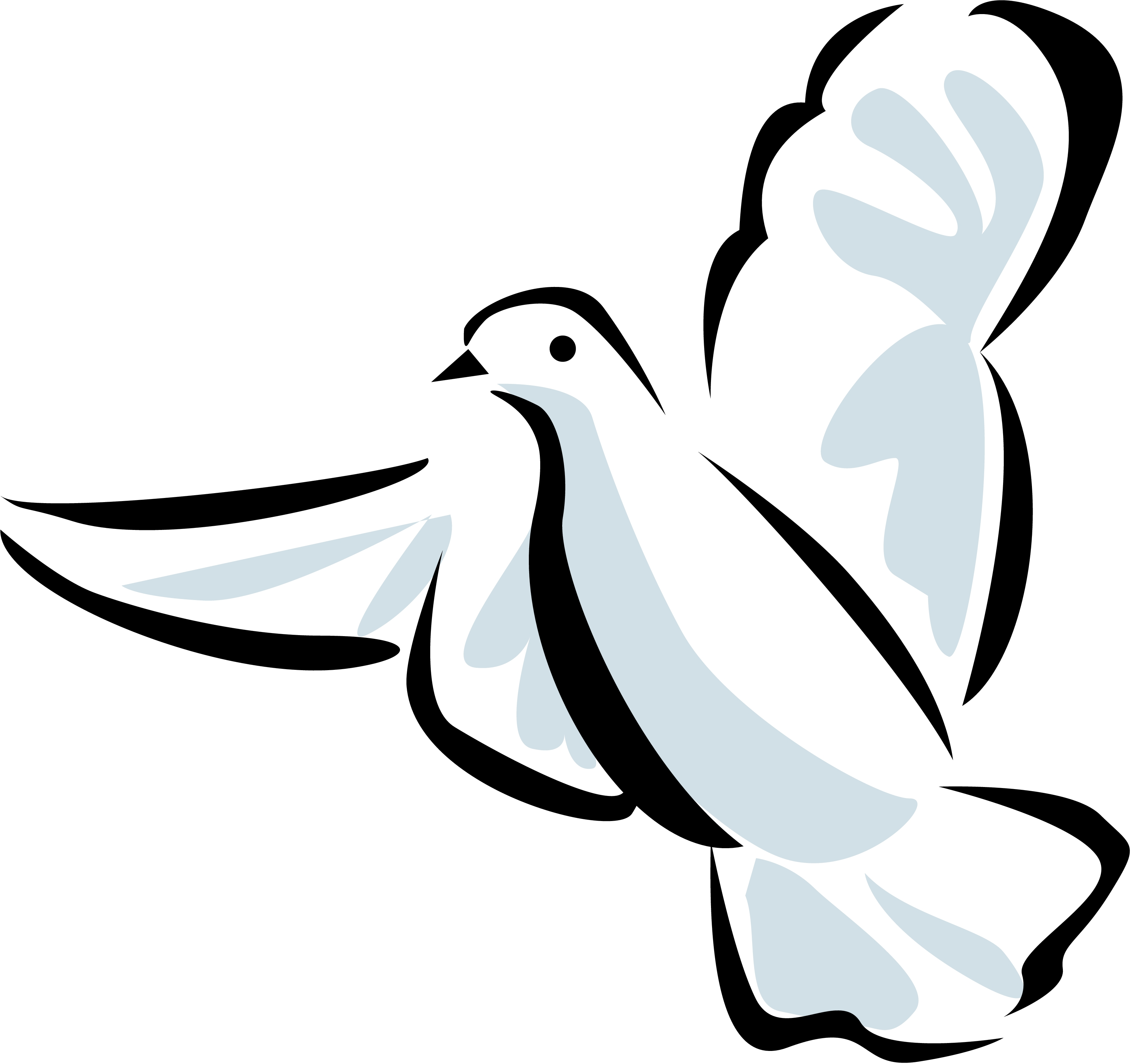 Line Art Dove : Dove how to draw clipart best
