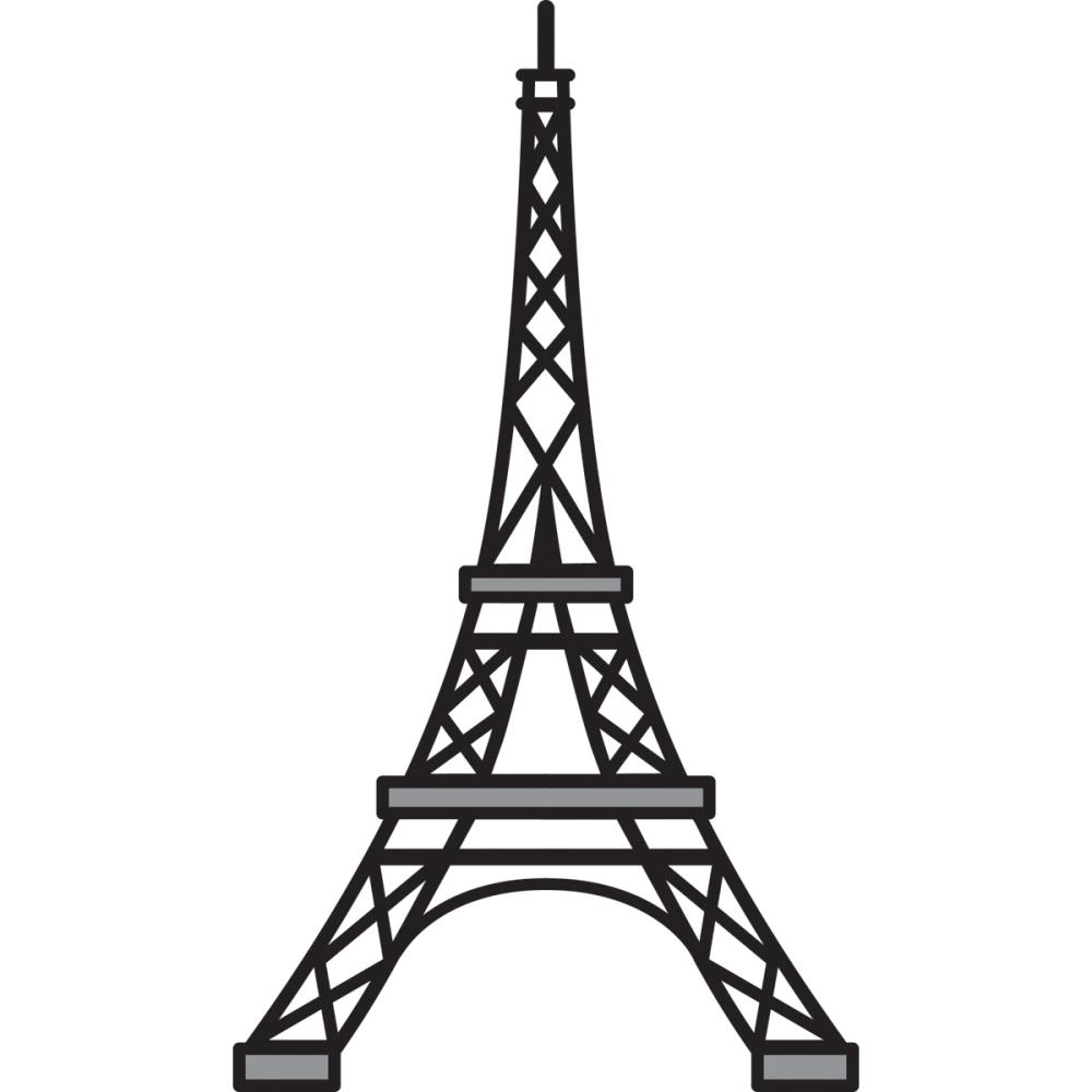 Eiffel Tower Stencil - ClipArt Best
