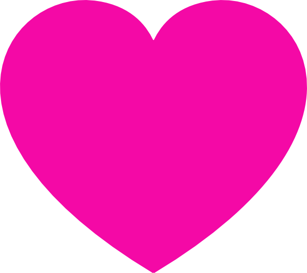 Pink Heart clip art - vector clip art online, royalty free ...