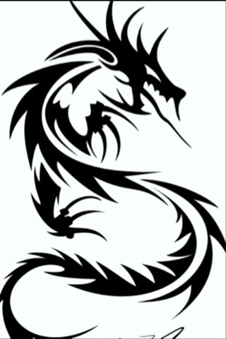 black and white dragon drawing (jpg image) | fliiby.