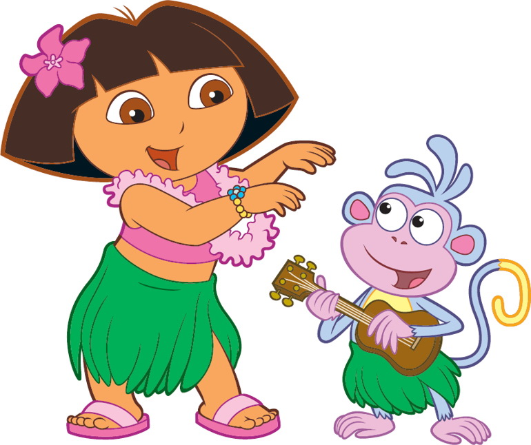 dora   boots hula  gt  dora the explorer  gt  nickjr clipart best clipart best hola clip art hula clipart free