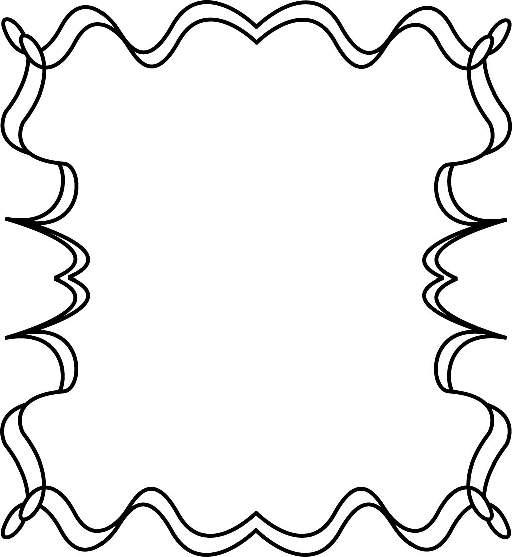 free black and white clip art borders - photo #3