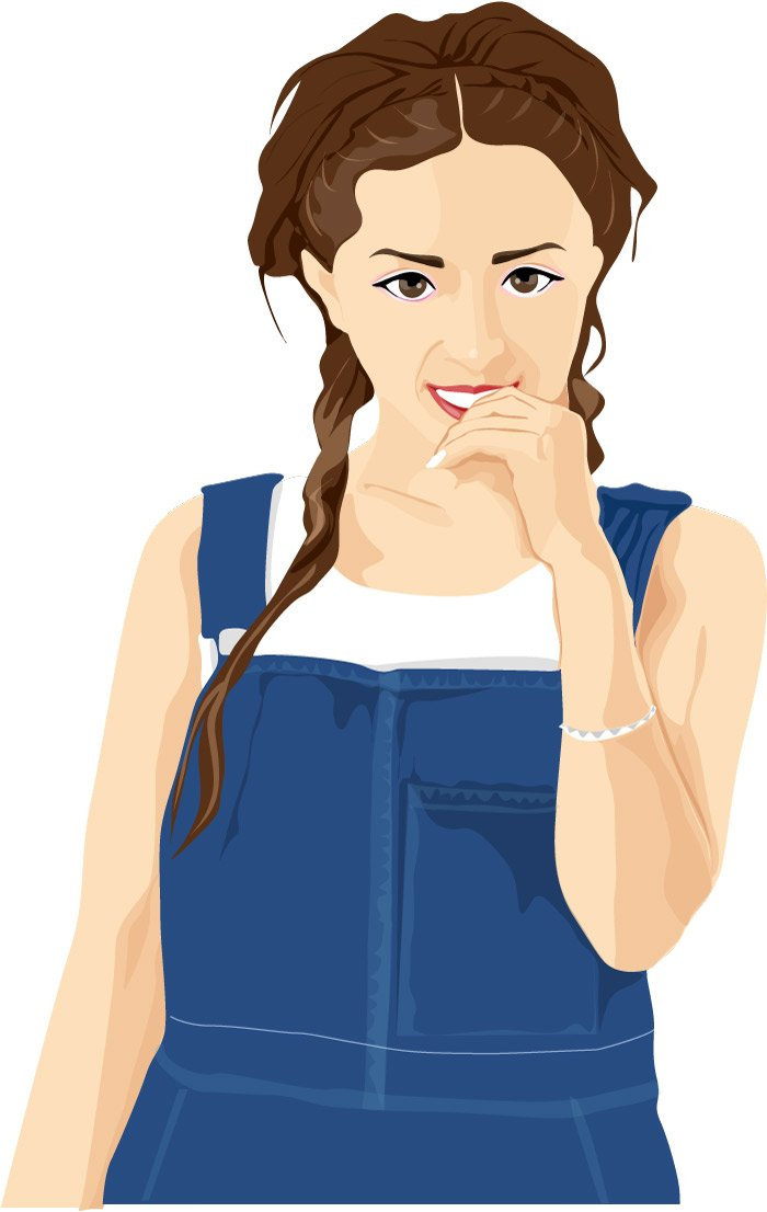 A Cartoon Character Girl : South korea ponytail girl cartoon characters vector
