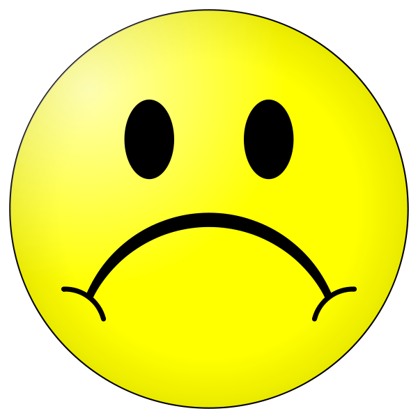 Smiley Face Sad - ClipArt Best